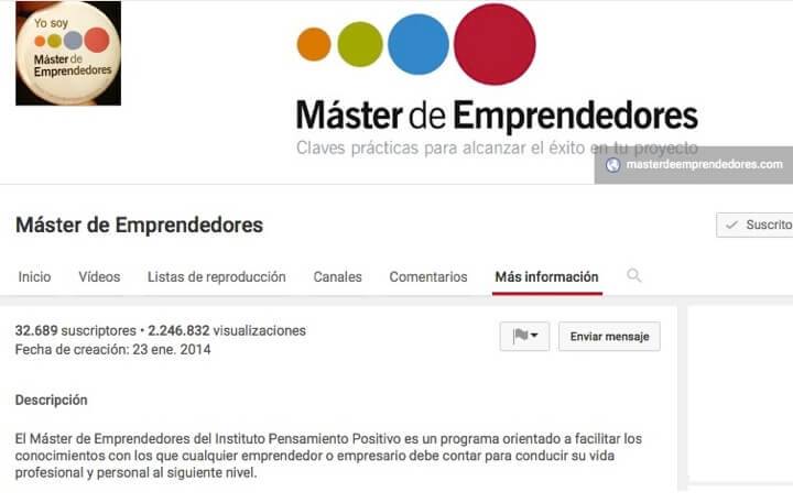 ¿Conoces el Canal de Youtube de Máster de Emprendedores?